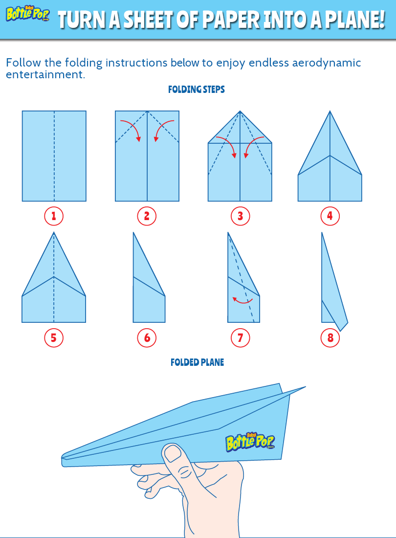 image regarding Printable Paper Airplane Template named Candymania