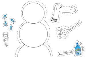 Printable Recess Accessories – Build a Snowman