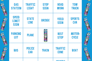 Push Pop Road Trip Bingo