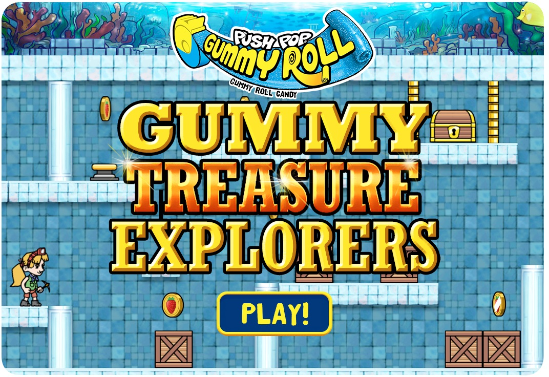 Push Pop Gummy Roll Treasure Explorers